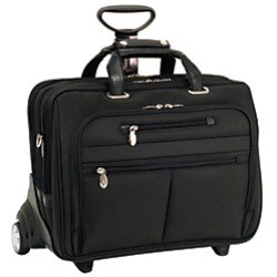 McKleinUSA Midway Fly-Through Checkpoint-Friendly 2-in-1 Removable-Wheeled 17in. Laptop Case