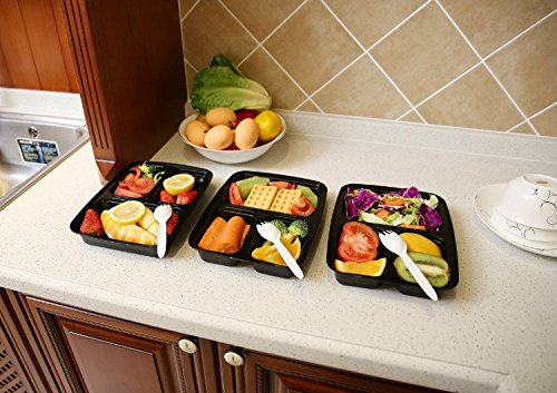 Bentibo ... & Bentibo 10 Pack 3 Compartment Meal Prep Food Storage Containers with ...