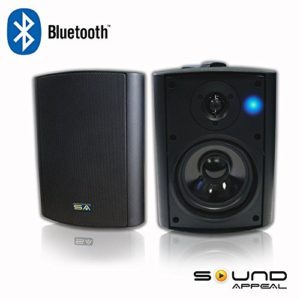 Bluetooth-525-IndoorOutdoor-Weatherproof-Patio-Speakers-Black-pair-by-Sound-Appeal-0