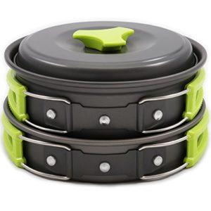 Camping-Cookware-Mess-Kit-Backpacking-Gear-Hiking-Outdoors-Bug-Out-Bag-Cooking-Equipment-10-Piece-Cookset-Lightweight-Compact-Durable-Pot-Pan-Bowls-Free-Folding-Spork-Nylon-Bag-Ebook-0
