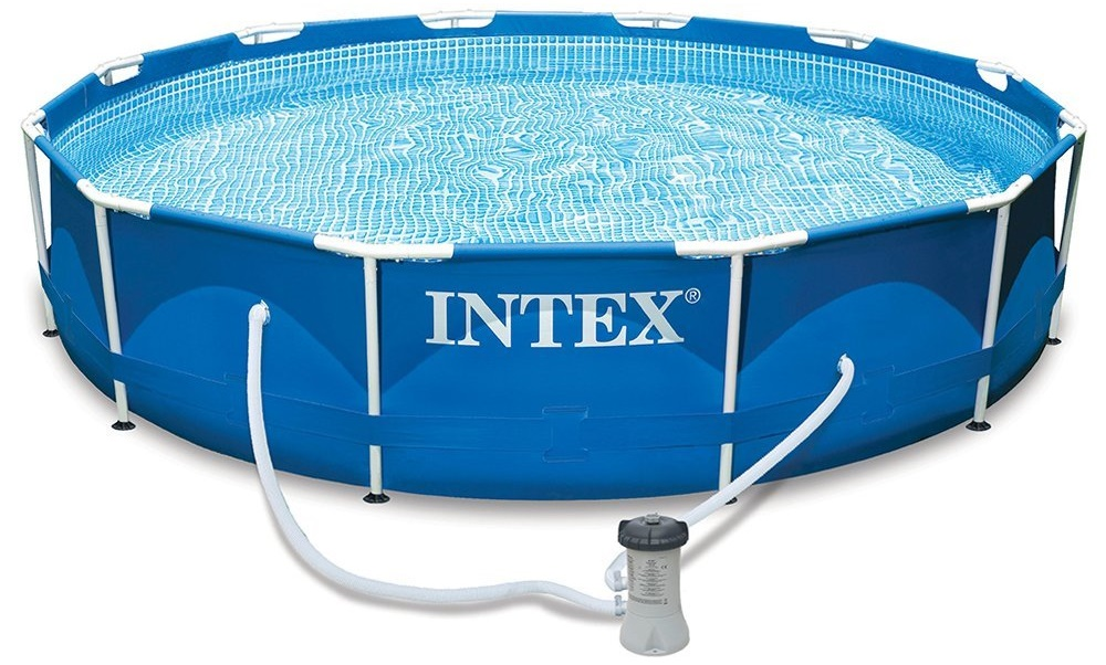 intex 12ft x 30in metal frame pool set. Black Bedroom Furniture Sets. Home Design Ideas