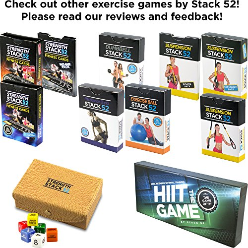 Fitness Dice by Strength Stack 52  Bodyweight Exercise Workout Game   Designed by a Military Fitness Expert  Video Instructions Included  No  Equipment