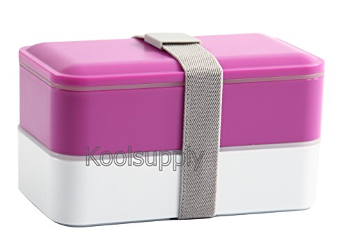 lunch box bento box containers with cutlery double stackable boxes. Black Bedroom Furniture Sets. Home Design Ideas