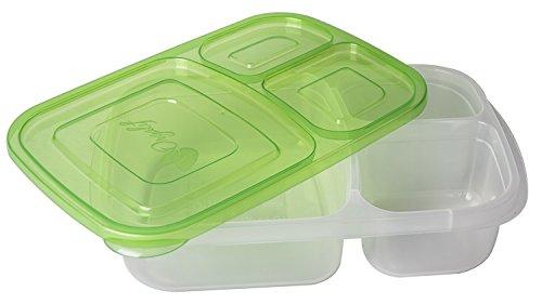 Orgalif Bento Lunch Box Container Food Storage 3 compartment Eco