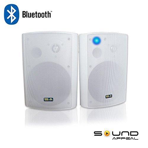 Wireless Outdoor Speakers, Bluetooth 6.50u2033 Indoor/Outdoor Weatherproof Patio  Speakers,White,