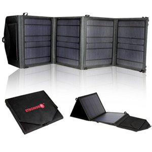 LB1-High-Performance-28W-18V-Foldable-Solar-Charger-with-High-Efficient-Monocrystalline-Panels-Ultra-Fast-USB-21A-Smart-iCharging-Technology-for-Laptop-Cell-Phone-iPhone-and-more-0