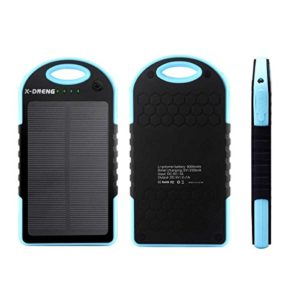 Solar-Charger-Solar-Power-Bank-X-DNENG-5000mAhDual-USB-Port-Portable-Charger-Battery-Backup-PowerExternal-Backup-Battery-Pack-for-Cell-Phone-Tablet-Camera-iphone-ipad-ipod-Blue-0