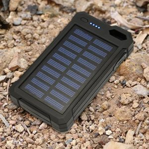 Solar-Charger-Solar-Power-Bank-iBeek-Portable-10000mAh-Dual-USB-Solar-Battery-Charger-External-Battery-Pack-Phone-Charger-with-12-LED-Flashlight-for-Emergency-Outdoors-Travel-Camping-Black-0