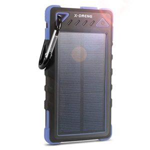 Solar-Charger-X-DNENG-8000mAh-Portable-Charger-with-Dual-USB-Port-Waterproof-Rain-Resistant-Shockproof-Solar-battery-Charger-Solar-Power-Bank-Blue-0