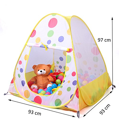 Truedays® 36.6u201d X 38.2u201dkids Teepee Play Tent Ball Pit ...  sc 1 st  amazon deals & Truedays® 36.6