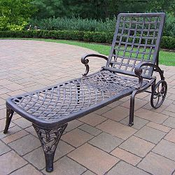 Outdoor Patio Sling Chaise Lounge