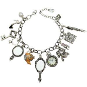 Q&Q Vintage Alice in Wonderland Charm Bracelet