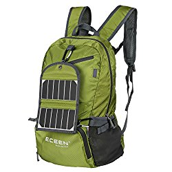ECEEN Foldable Backpack + Solar Phone Charger