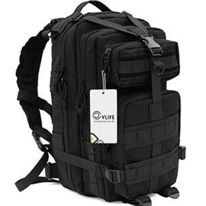 CVLIFE-Outdoor-Tactical-Backpack-Military-Rucksacks-for-Camping-Hiking-and-Trekking-Waterproof-30L-Black-0