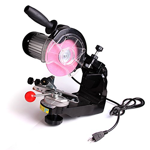 Electric Chainsaw Sharpener Grinder w/ Grinding Wheels 1/8″ & 3/16″ New