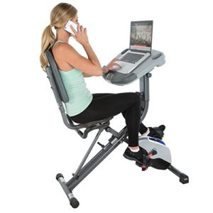 37% off Exerpeutic WORKFIT Fully Adjustable Desk Folding Exercise Bike with Pulse