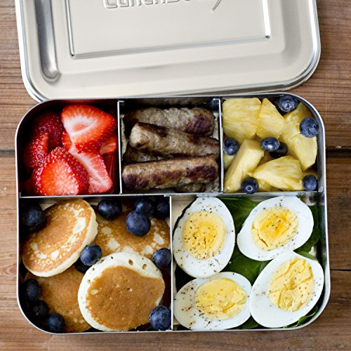 lunchbots bento cinco large stainless steel food container. Black Bedroom Furniture Sets. Home Design Ideas