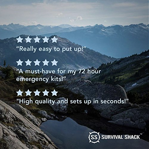 Survival Shack® Emergency Survival Shelter Tent ... & Survival Shack® Emergency Survival Shelter Tent | 2 Person Mylar ...