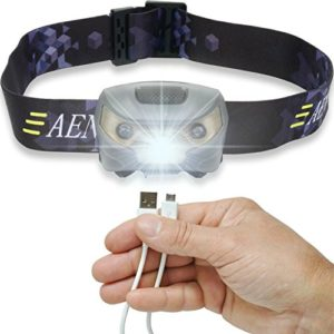 USB-Rechargeable-LED-Headlamp-Flashlight-Super-Bright-Waterproof-Lightweight-Comfortable-Perfect-for-Running-Walking-Camping-Reading-Hiking-Kids-DIY-More-USB-Cable-Included-0