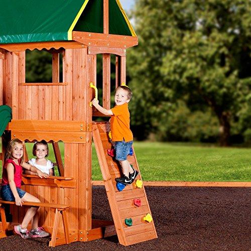 Backyard Discovery Somerset All Cedar Wood Playset Swing Set