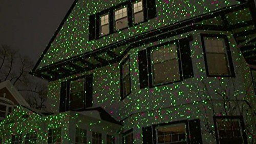Laser Christmas Light Projector, Red And Green Moving Laser Star ...