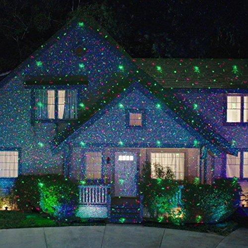 Star Night Laser Shower Christmas Lights (Red/Green Dancing Lights) -