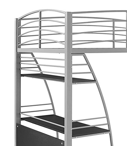 Dhp Studio Loft Bunk Bed Over Desk And Bookcase