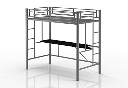 emily premium twin loft bunk bed - Metal Frame Loft Bed