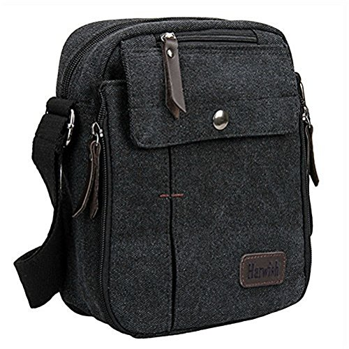 Harwish Men's Multifunctional Canvas Messenger Handbag Outdoor ...