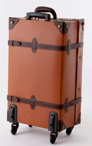 MOIERG Vintage Trolley Luggage Suitcase