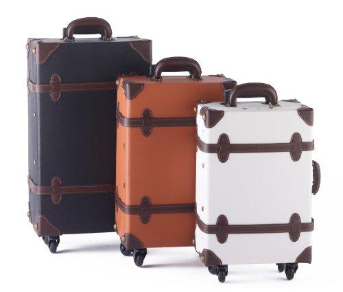MOIERG Vintage Trolley Luggage suitcase 2tone TSA Camel Medium (81 ...