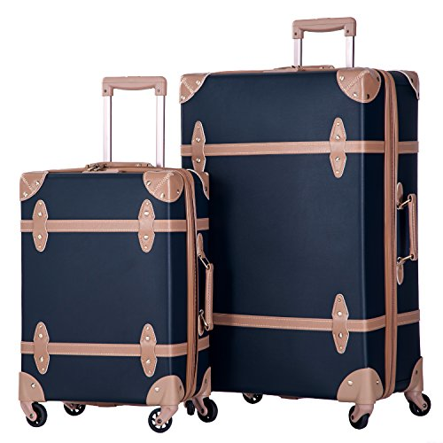 Merax 2 Piece Luggage Set Vintage Suitcase 20inch 28inch with TSA ...