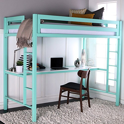WE Furniture Premium Twin Metal Loft Bed ...