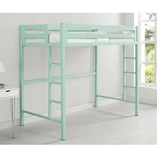 We Furniture Premium Twin Metal Loft Bed