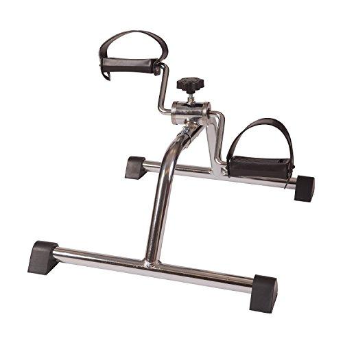 DMI Lightweight Mini Pedal Exerciser Leg and Arm Exerciser, Silver
