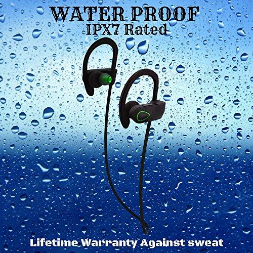 Wireless headphones microphone over ear - green headphones over ear