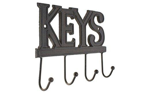 Key holder keys wall mounted key hook rustic western cast iron key holder keys wall ppazfo