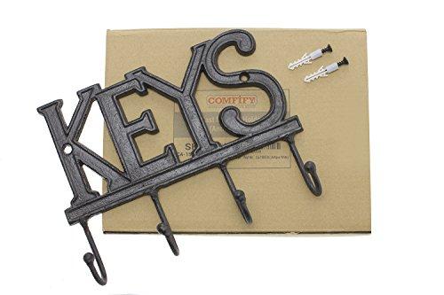 Key Holder – Keys   Wall Mounted Key Hook   Rustic Western Cast ...