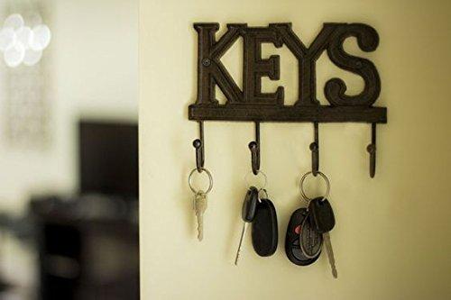 Key Holder – Keys | Wall Mounted Key Hook | Rustic Western Cast Iron ...