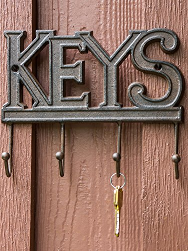 Key Holder – Keys   Wall Mounted Key Hook   Rustic Western Cast Iron ...