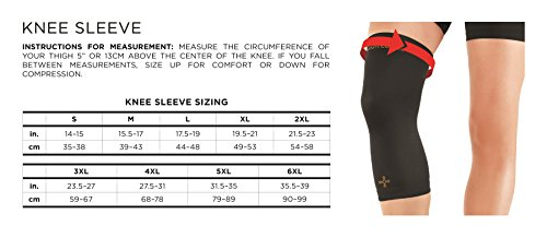 Tommie Copper Women's Recovery Refresh Knee Sleeve, Black, Large