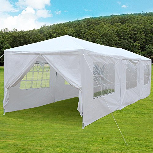 Yaheetech 10u0027 x 30u0027 Waterproof Gazebo Marque Party Wedding Tent Canopy with Removable : tent side panels - memphite.com