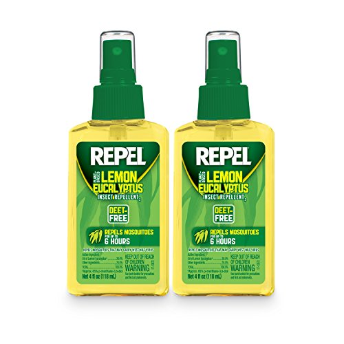 REPEL HG-24109 Lemon Eucalyptus Natural Insect Repellent with 4 oz Pump Spray, Twin Pack
