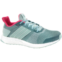adidas Ultra Boost ST adidas Womens Running Shoes Vapour GreenChalk White Vapour