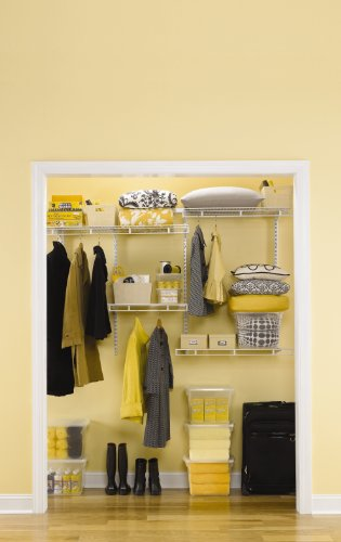 Rubbermaid Fasttrack Multi Purpose Closet Kit Deep White Fg3r20ftwht
