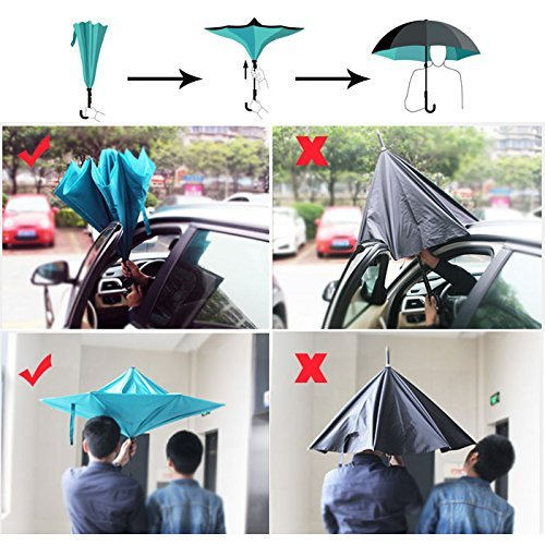 Inverted Umbrella, Alink Reverse Folding Double Layer Inside Out ...