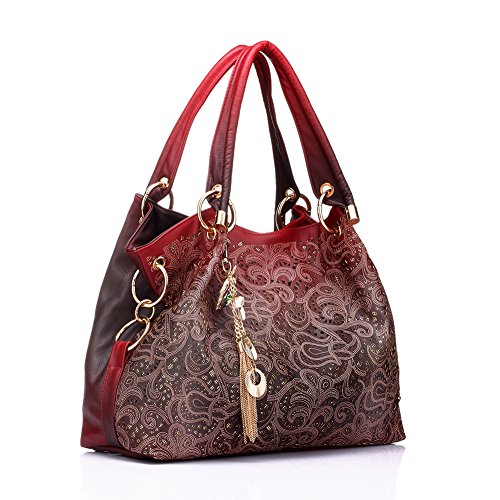 a58b8ab6252 Realer Women s Handbag Tote Purse Shoulder Bag Pu Leather Fashion Top  Handle Designer ...