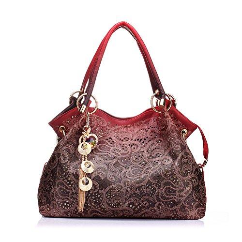 Realer Women s Handbag Tote Purse Shoulder Bag Pu Leather Fashion Top  Handle Designer Bags for Ladies 26fb334e86
